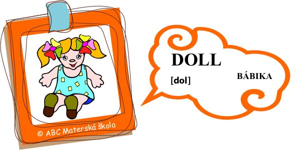 angličtina bábika