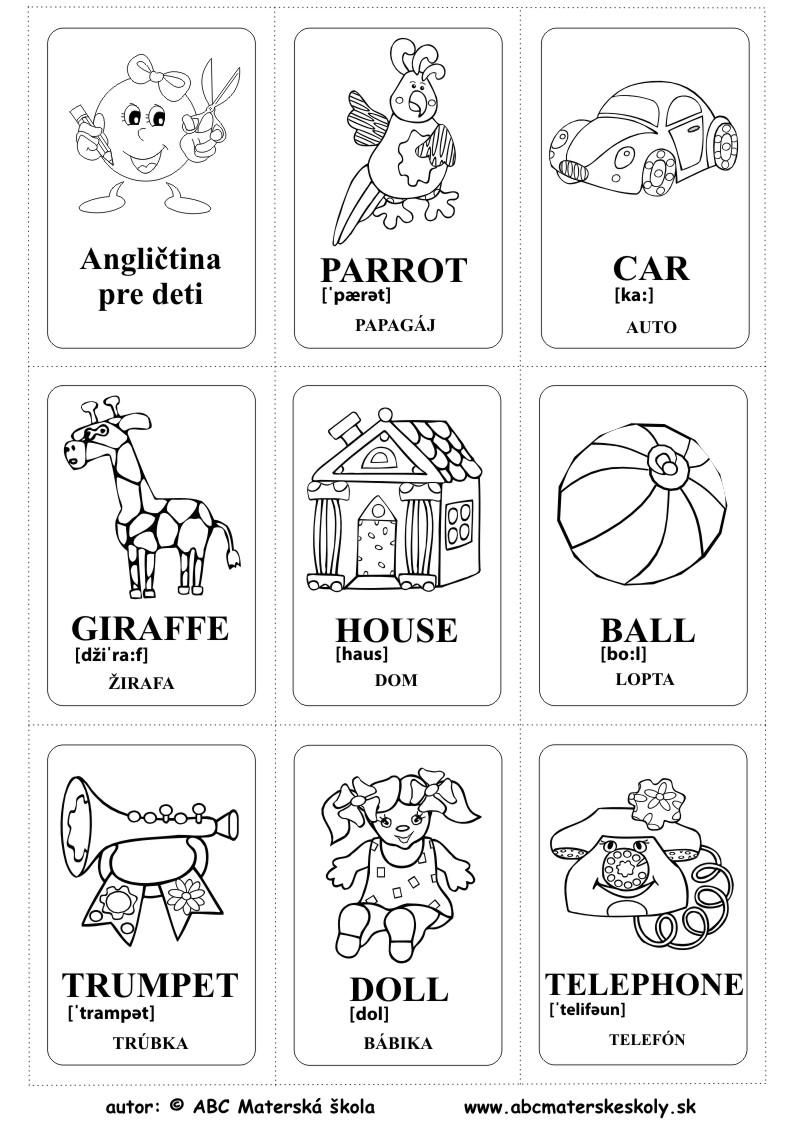 kartičky angličtina