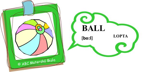 angličtina lopta