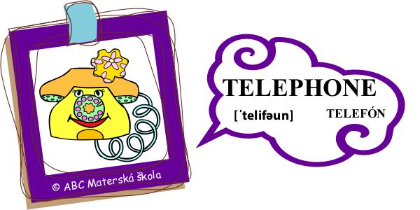 angličtina telefón