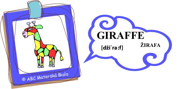 angličtina žirafa