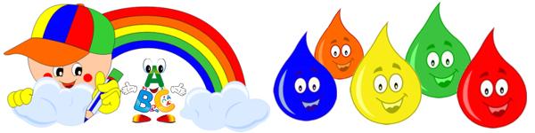pozn�vame farby - farebn� kvap��ky - vesel� farbi�ky
