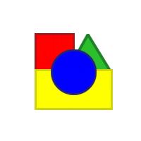 geometrické tvary, kruh, štvorec, trojuholník, obdĺžnik