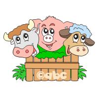 Domáce zvieratá, ich mláďatá a zvuky zvierat