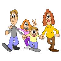 ja a moja rodina, uhádni kto som, mama, otec, dievča, chlapec