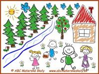 medovníkový domček - Janko a Marienka – Z domu do lesa - farebná predloha