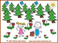 Medovníkový domček - Janko a Marienka – V lese  - farebná predloha