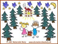 medovníkový domček - Janko a Marienka – Noc v lese - farebná predloha