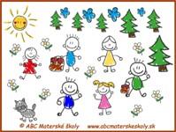 medovníkový domček - detičky - farebná predloha