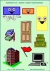Geometrické tvary - Obdĺžnik - predmety podobné obdĺžniku  - farby a tvary - farebná predloha