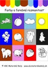 Farby – rozoznávame a určujeme farby, farebná rozmanitosť - farebná predloha