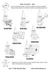 Sedem trpaslíkov  – Ako sa voláme - abeceda, farby a tvary, matematika - pracovný list z ABC materská škola