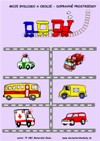 Moje bydlisko a okolie - Dopravné prostriedky - farebný pracovný list z ABC materská škola