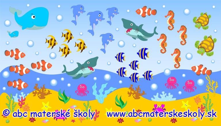 Veľký podmorský farebný modrý svet