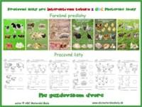 gazdovský dvor - domáce zvieratá - pracovné listy na Interaktívnu tabuľu z ABC