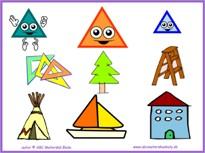 Geometrické tvary – trojuholník - pracovné listy na IT
