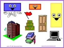 Geometrické tvary – odlznik - pracovné listy na IT