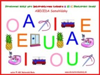 abeceda - samohlásky A E I O U - pracovné listy na Interaktívnu tabuľu z ABC