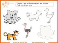 pracovný list zoo
