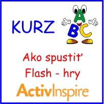 Video kurz AktivInspire - Ako spustiť Flash hry