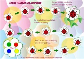 Bodkolienka - hra – Matematika, logika, priestorová orientácia - farebná predloha ABC materská škola