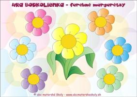 Bodkolienka a farebné margarétky - Matematika a farebná predstavivosť - farebná predloha z ABC materská škola
